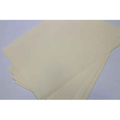 50 Pieces 35x50 Light Yellow Professional Marbling Paper 95 gr